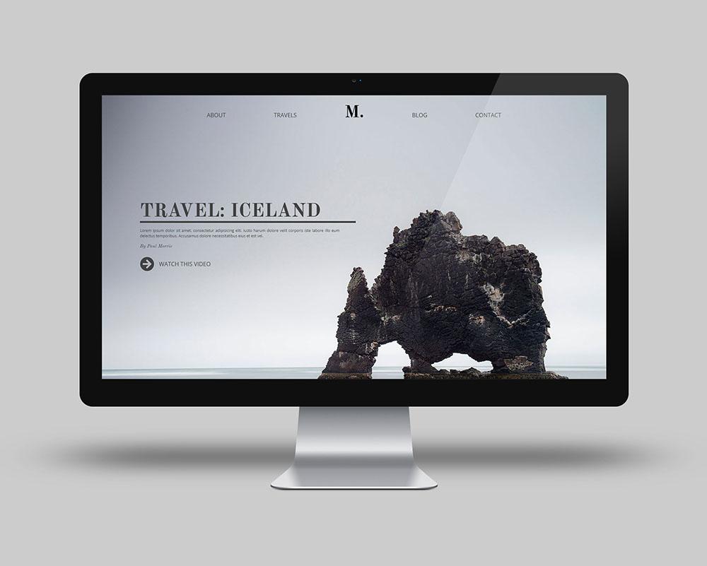 One page sobre Islandia